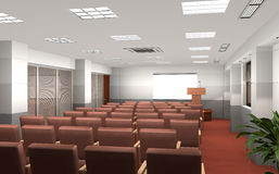 3D rendered conference room Stock Photo