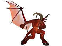 3D rendered demon. 3D rendered fantasy demon isolated on white background Stock Photos