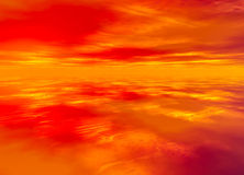 3d Rendered Distant Skyscape. Horizon Stock Images
