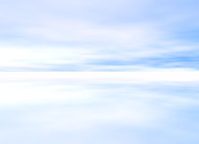 3d Rendered Distant Skyscape. Soft Light Blue 3d Rendered Distant Skyscape Horizon Royalty Free Stock Photos
