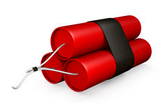 3D Rendered Dynamite. 3D Rendering of a Bundle of Dynamite on a White Background Stock Illustration