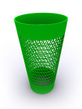3D rendered  empty recycle bin. 3D rendered green  empty recycle bin Stock Image