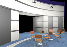 3D rendered exhibition area Royalty Free Stock Photo