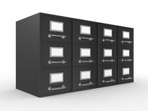 3D rendered file drawer Stock Photos