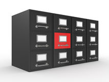 3D rendered file drawer Royalty Free Stock Photo