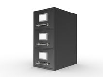 3D rendered file drawer Royalty Free Stock Photography