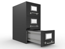3D rendered file drawer Royalty Free Stock Image