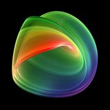 3D Rendered Fractal. With rainbow colors Stock Images