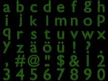 3D rendered grass-letters-alphabet. 3D rendered alphabetical letters made of grass - small letters vector illustration