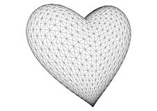 3d rendered heart vector. 3d heart rendered in white background, vector vector illustration