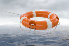 Free 3D Rendered Illustration Of Orange Life Buoy. Sea In Background Stock Photo - 96252780