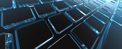 3D rendered keyboard. In black background Royalty Free Stock Image