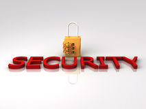3D Rendered Lock implying Security Royalty Free Stock Image