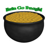 3D Rendered Pot of Gold with Irish Saying Royalty Free Stock Photography