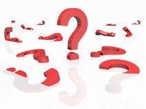 3D rendered question marks Royalty Free Stock Image