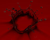 3D rendered red splash Stock Photos
