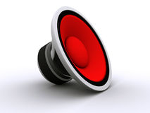 3D rendered  Speaker. 3D rendered red  Speaker Stock Image