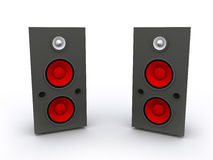 3D rendered  Speaker Set Stock Photos