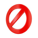 3d rendered stop sign Stock Photography