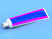3d rendered toothpaste Royalty Free Stock Images