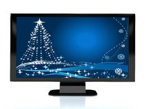 3d rendered TV with Cristmas image Royalty Free Stock Photo