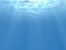 3d rendered underwater view. Royalty Free Stock Photos