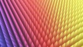 3d rendering of abstract colorful pyramid array Royalty Free Stock Photos