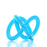 3D rendering abstract knot. 3D rendering blue abstract knot Royalty Free Stock Photo
