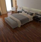 3d rendering bedroom. 3d rendering of the modern bedroom Stock Image