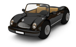 3d-rendering of a black car. 3d-rendering of a custom designed, old-fashioned black car Royalty Free Stock Photos