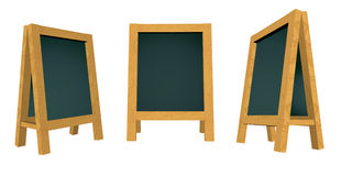 3d rendering blank blackboard. 3d rendering/illustration of a blank blackboard Stock Photos