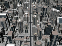 3D rendering of a city royalty free stock photos