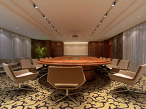3D rendering of a Conference room stock illustration