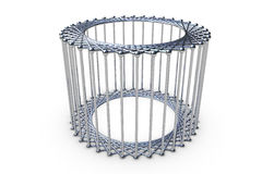 3d rendering cylinder cage Royalty Free Stock Photography