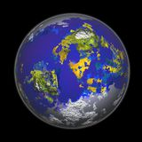 3D Rendering of the Earth. Computer generated 3D of the earth stock photo