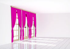 3d rendering the empty room. Modern interior Stock Photography