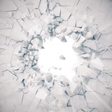 3d rendering, explosion, broken concrete wall, cracked earth, bullet hole, destruction, abstract background with volume