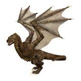 3D Rendering Fantasy Dragon on White Royalty Free Stock Photos