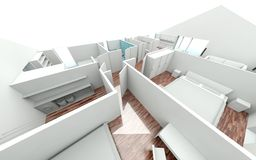 3D rendering house plan Stock Photos