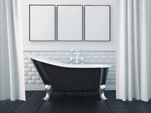 3d Rendering Interior Of A Bathroom Royalty Free Stock Images