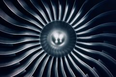 Free 3D Rendering Jet Engine, Close-up View Jet Engine Blades. Blue Tint. Stock Image - 113655361