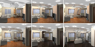 3D rendering Living room. Inside a modern home living room Stock Photography