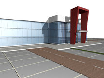 3D rendering of modern building Royalty Free Stock Images