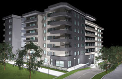 3D rendering of modern residential building Stock Photo