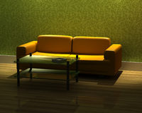 3d rendering modern sofa Royalty Free Stock Photo