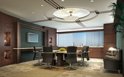 3D Rendering Of A Conference Room Royalty Free Stock Images