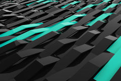 Free 3D Rendering Of Black Gloss Plastic Waves With Colored Elements Stock Photo - 86523180