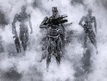 Free 3D Rendering Of Futuristic Mech Soldiers In War Stock Image - 133986391