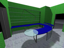 3D rendering of an office. Interior design. 3D rendering of an office space Royalty Free Stock Photography
