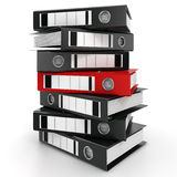 3D rendering of a pile of office ring binders Stock Photography